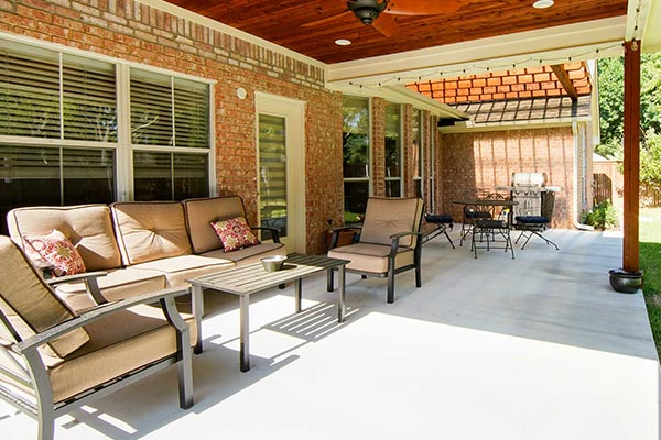 Covered Porch Entertaining