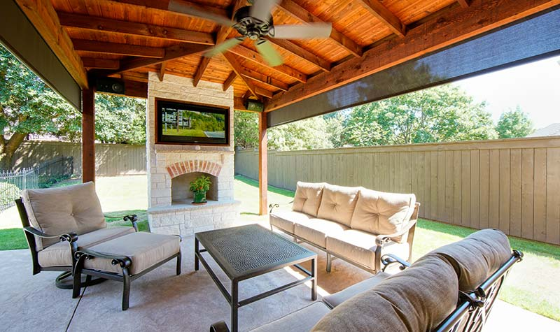 Outdoor kitchens patio covers fort worth burleson tx - Covered outdoor living spaces ...