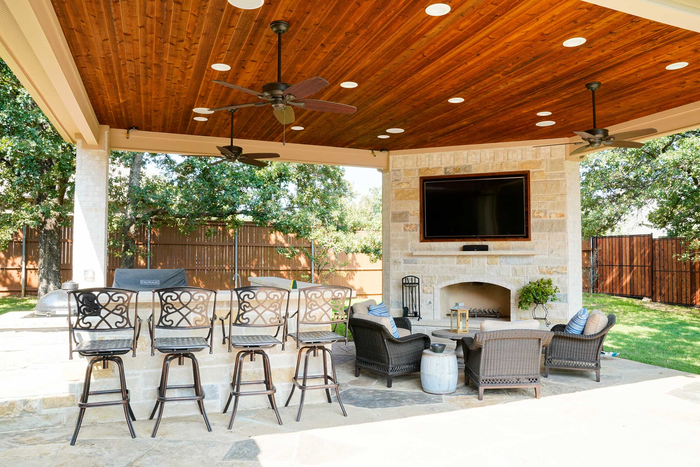 Outdoor Kitchens, Patio Covers   Fort Worth, Burleson TX ... on Complete Outdoor Living id=96424
