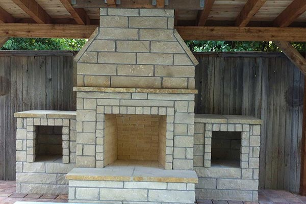 Lueders Stone Fireplace