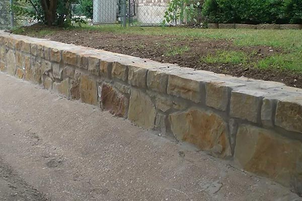 Railroad Tie Replacement Wall